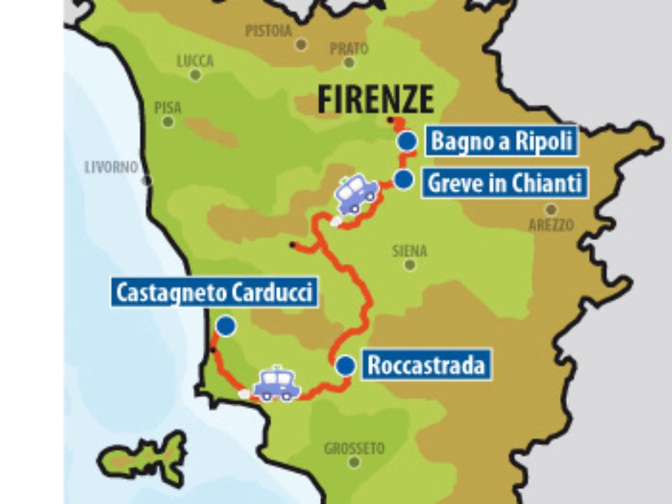 Cartina Greve in Chianti