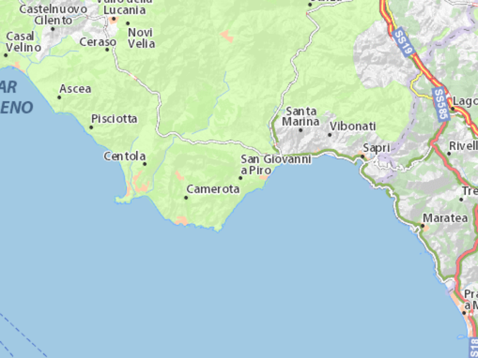 Mappa San Giovanni a Piro